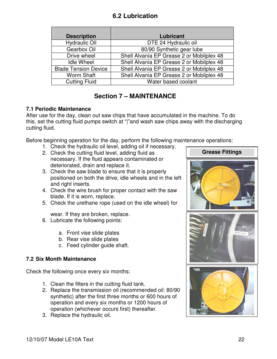 Dake Model LE10A User Manual | Page 22 / 24