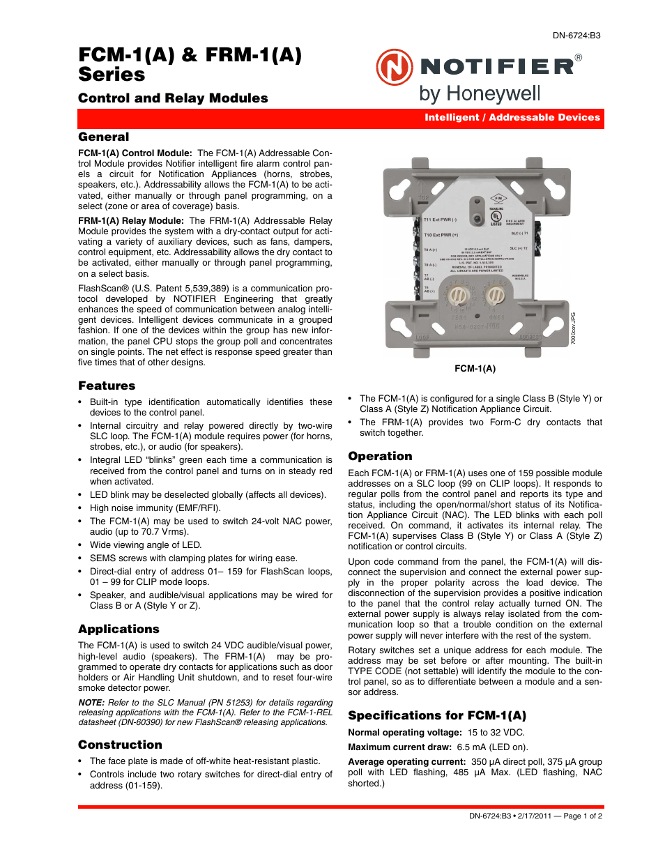 notifier frm user manual 2 pages also for fcm Notifier SLC Wiring Manual