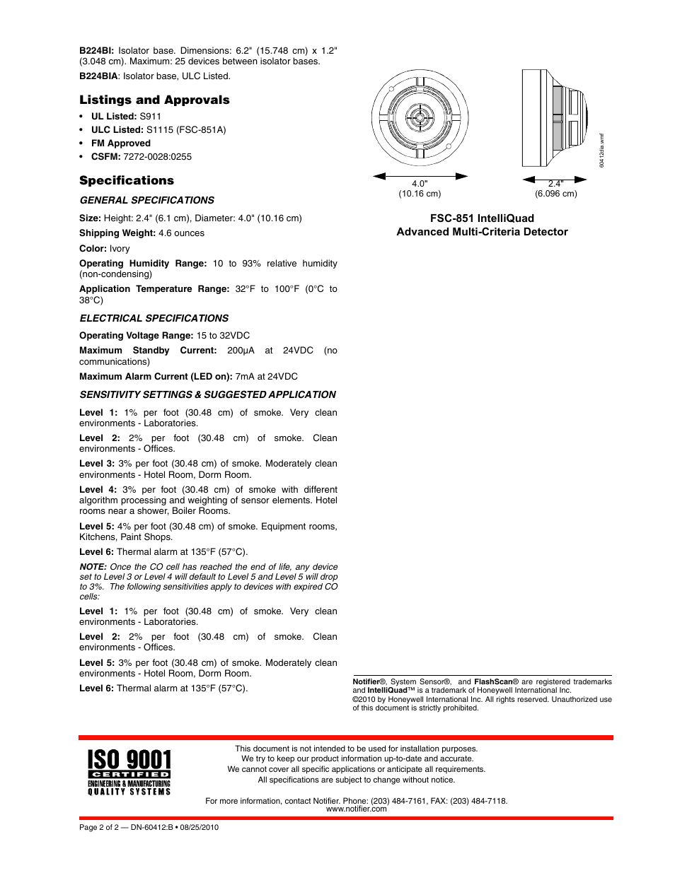 notifier nca 2 installation manual