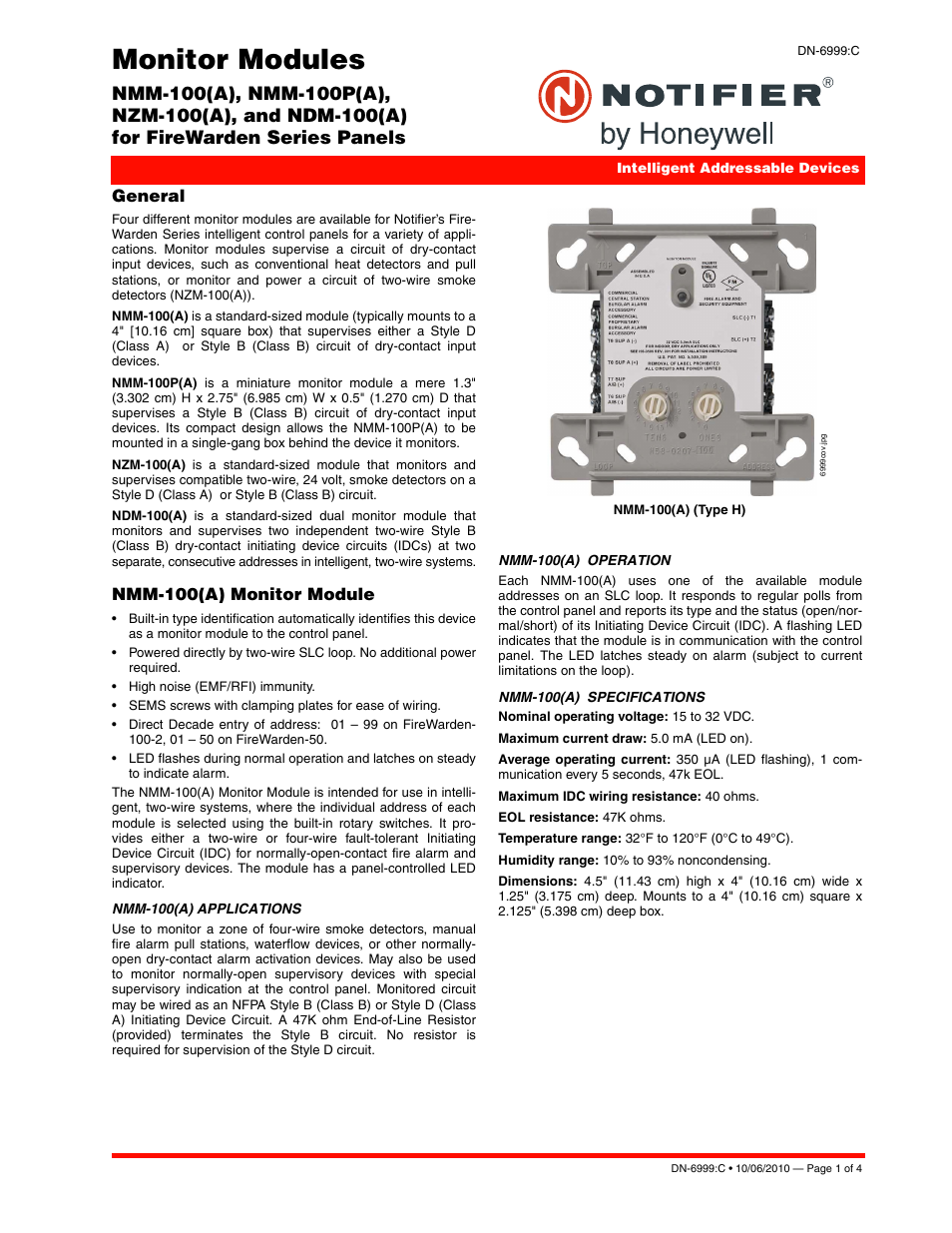 notifier ndm 100p page1 notifier ndm 100(p) user manual 4 pages also for nzm, nmm notifier wiring diagram at mifinder.co