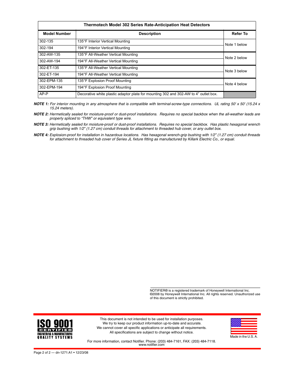 Notifier 302 Series User Manual | Page 2 / 10 | Original mode