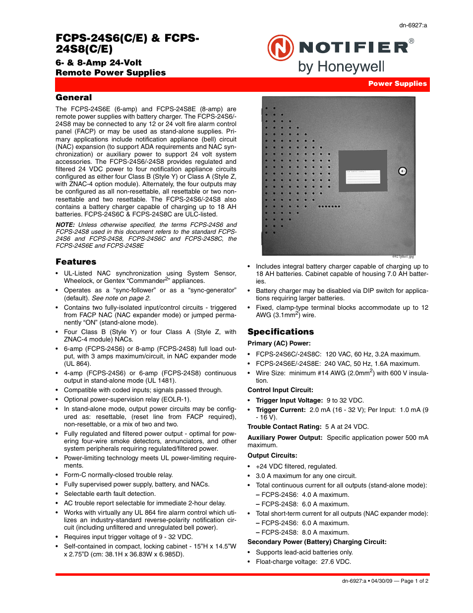 notifier fcps 24s8 user manual 2 pages also for fcps 24s6 rh manualsdir com Notifier System 5000 Operation Manual notifier fcps 24s8 installation manual