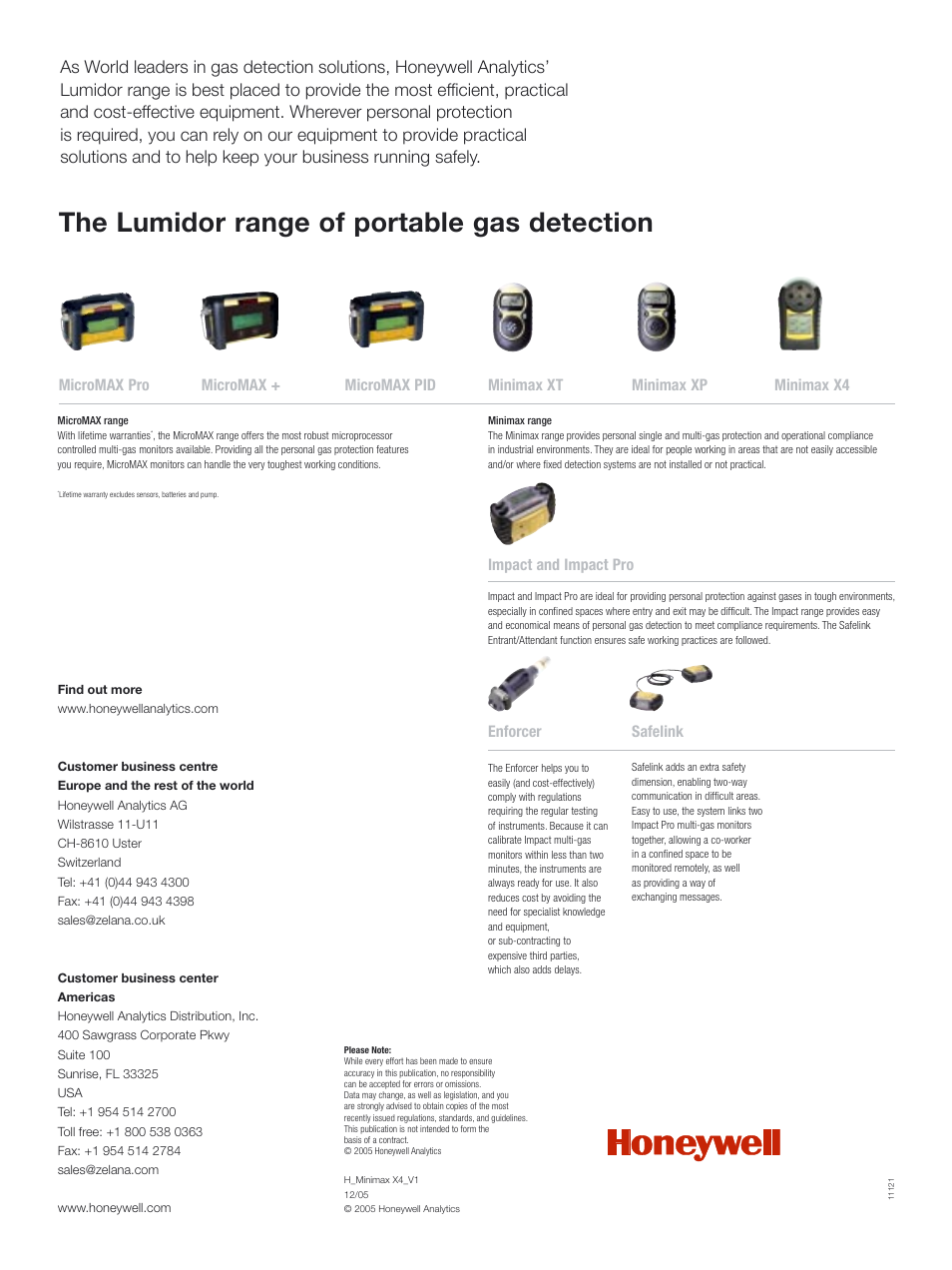 The lumidor range of portable gas detection | Notifier Lumidor ...