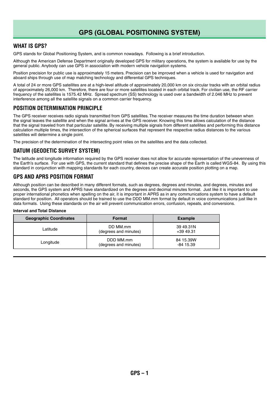Tm-d710g_09_gps_en, Gps (global positioning system), What is gps | Position