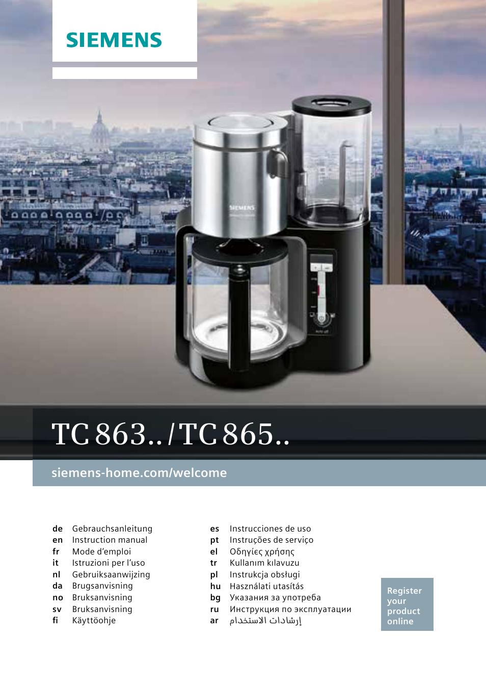 siemens tc86303 user manual 132 pages also for tc86503 tc86304 rh manualsdir com siemens home appliances user manuals Siemens Fridge