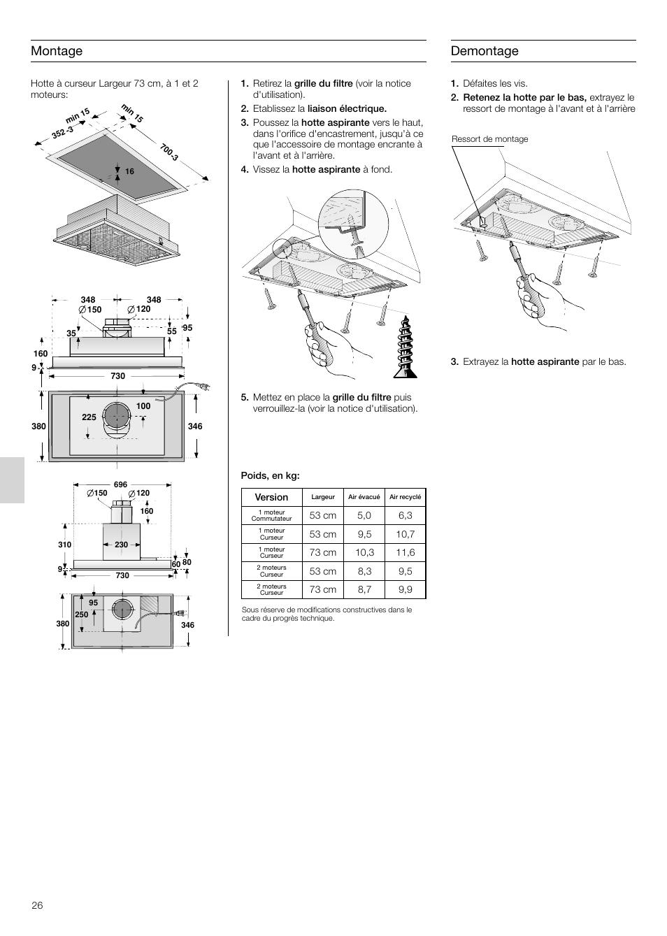 montage, demontage | siemens lb75564 user manual | page 26 / 64