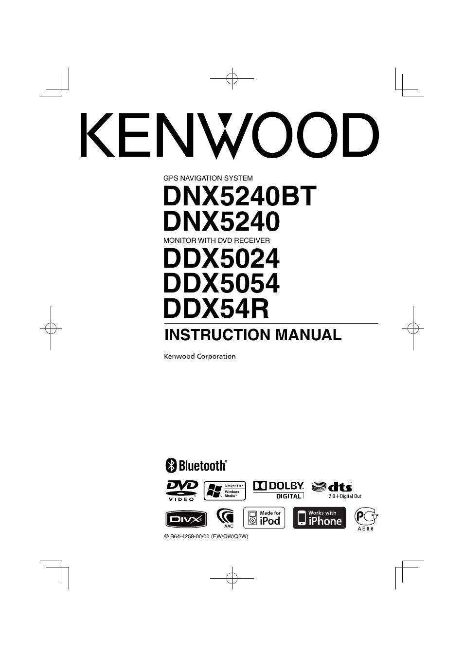 kenwood dnx5240bt user manual 96 pages also for ddx5024 rh manualsdir com