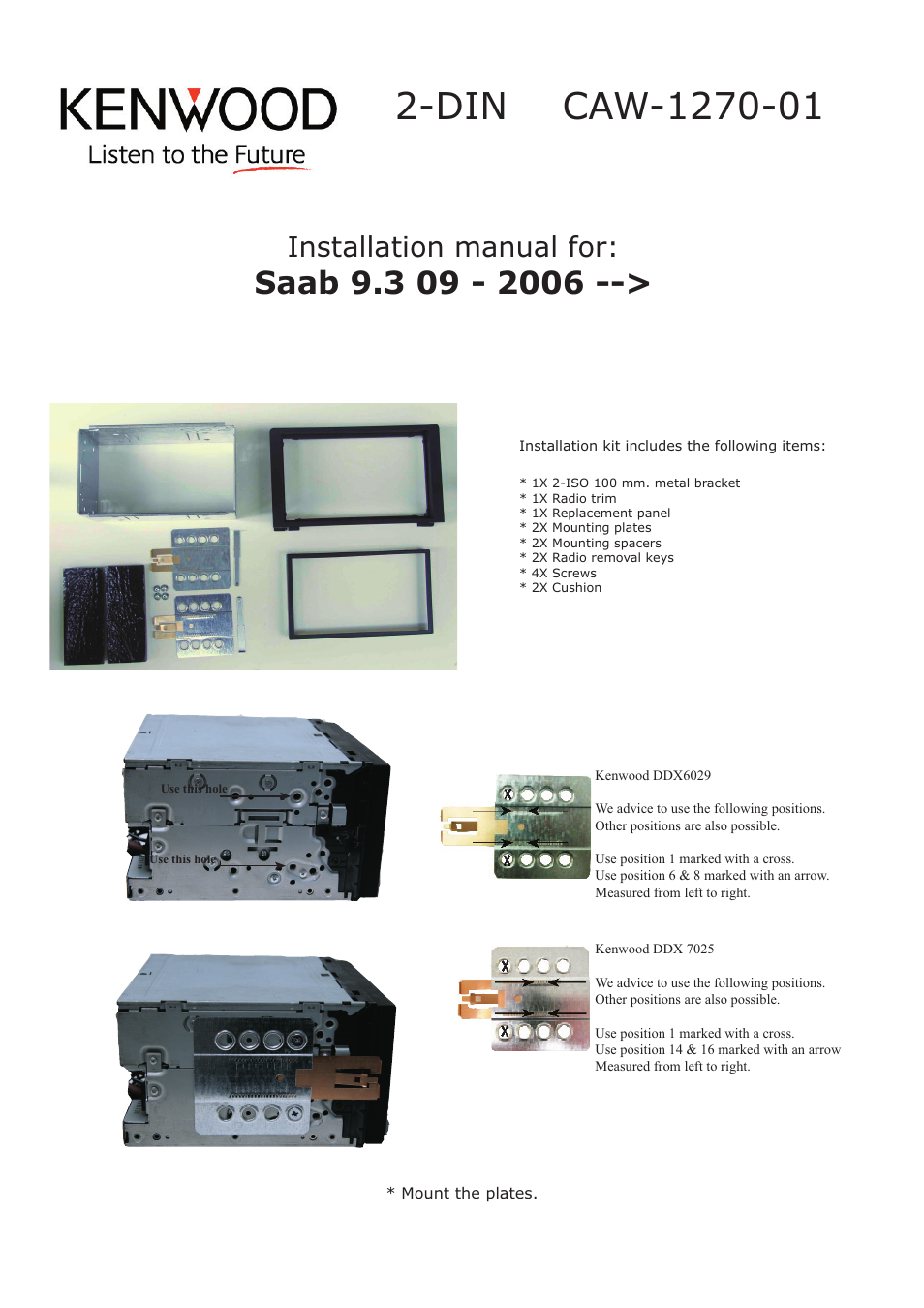 Kenwood caw1270 01 user manual 2 pages sciox Gallery