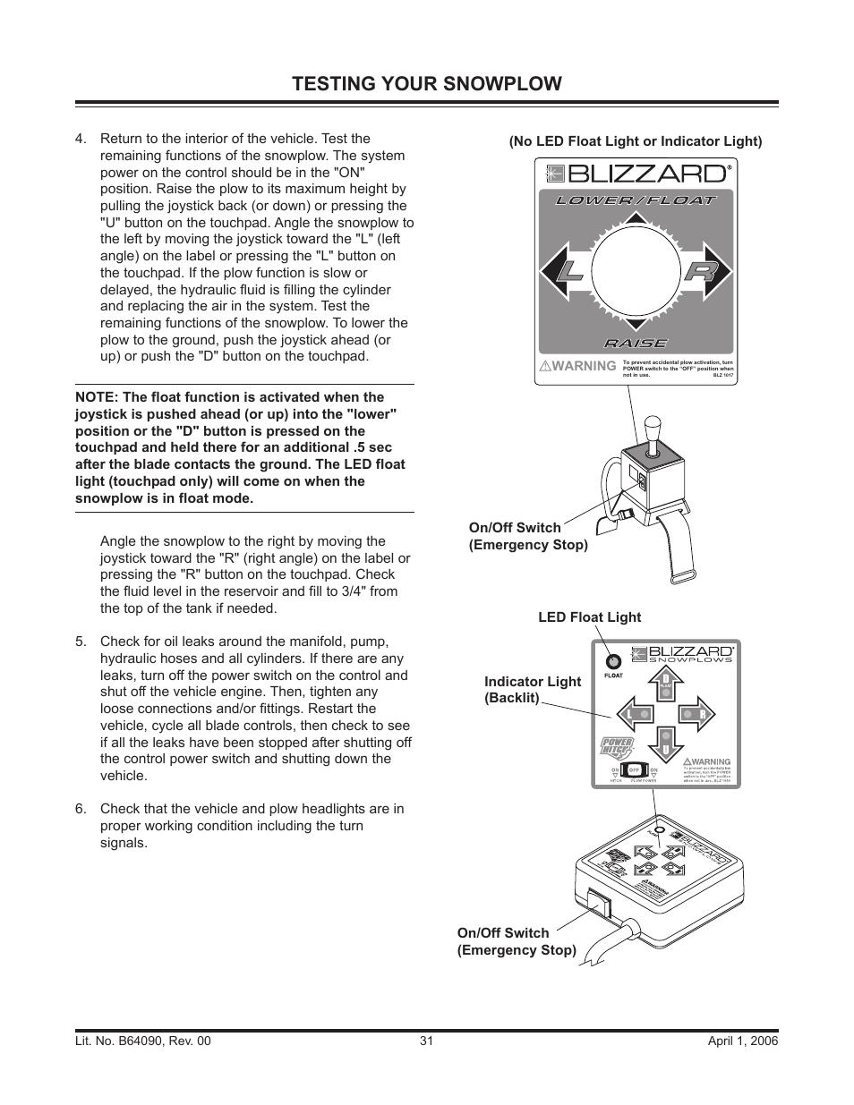Testing Your Snowplow Blizzard Snowplows 760hd User Manual Page. Testing Your Snowplow Blizzard Snowplows 760hd User Manual Page 31 52. Wiring. Blizzard 760 Plow Wiring Diagram At Scoala.co