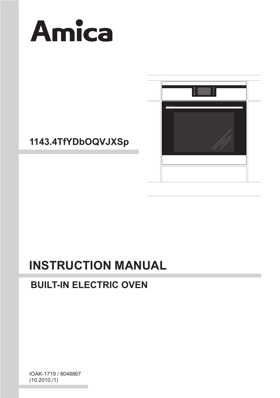amica 1143 4tfydx en user manual 40 pages rh manualsdir com Kenmore Oven Manual Convection Oven