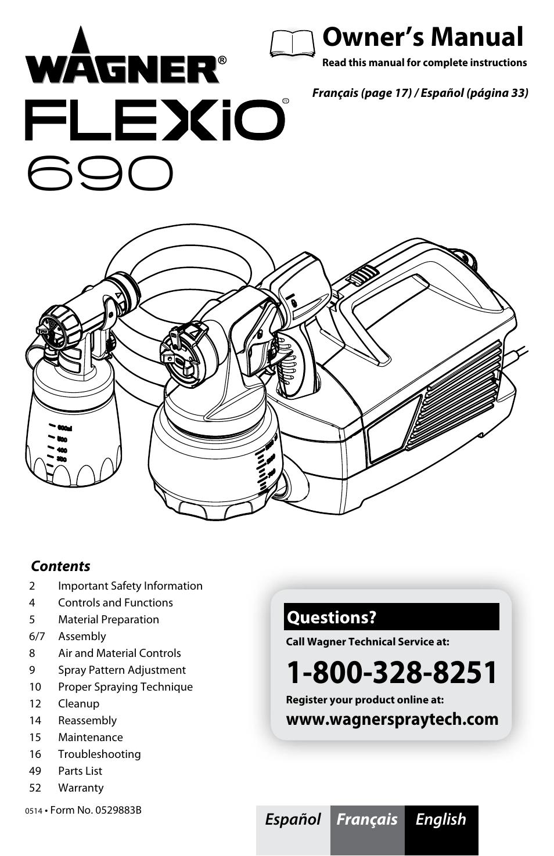 wagner flexio 690 sprayer user manual