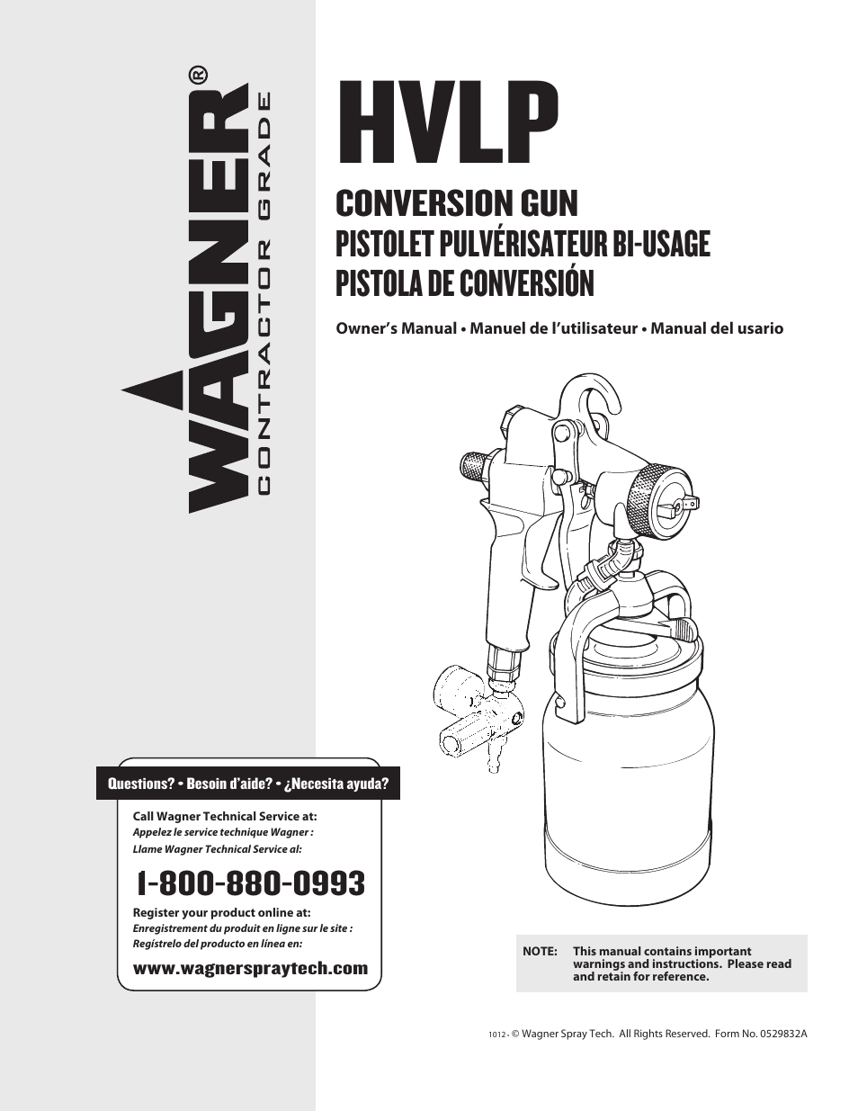 Wagner Hvlp Conversion Gun User Manual 28 Pages