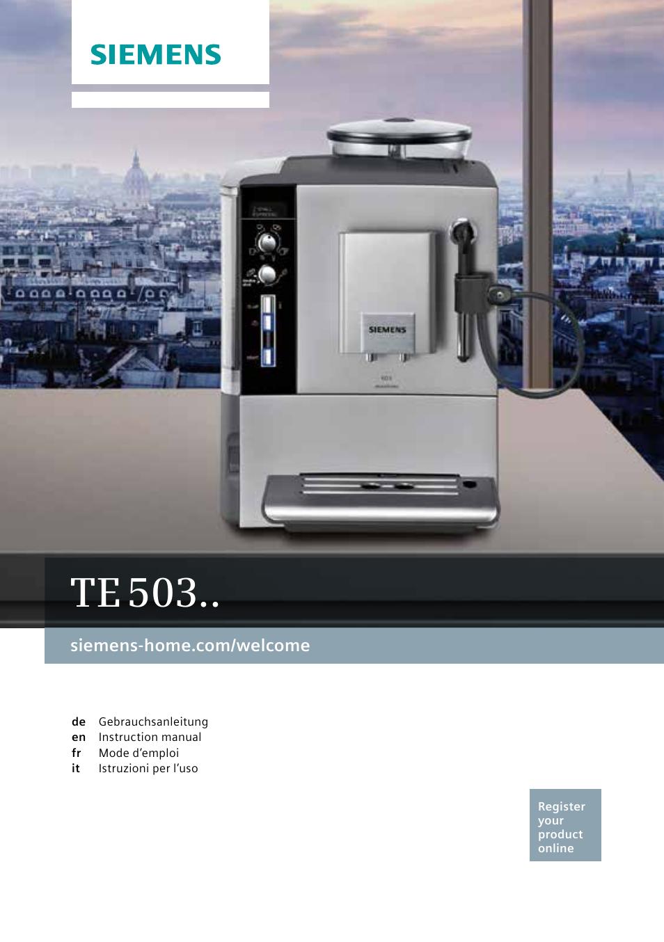 siemens te503521de user manual 94 pages also for te503509de rh manualsdir com Siemens Refrigerators USA Siemens Refrigerators USA