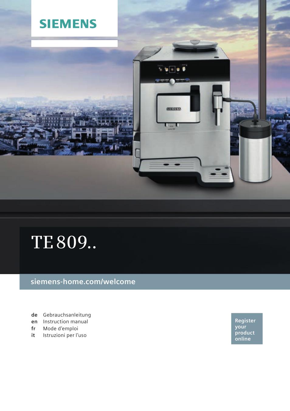 siemens te809501de user manual 120 pages also for te809511de rh manualsdir com Siemens Refrigerators USA Siemens Dishwasher