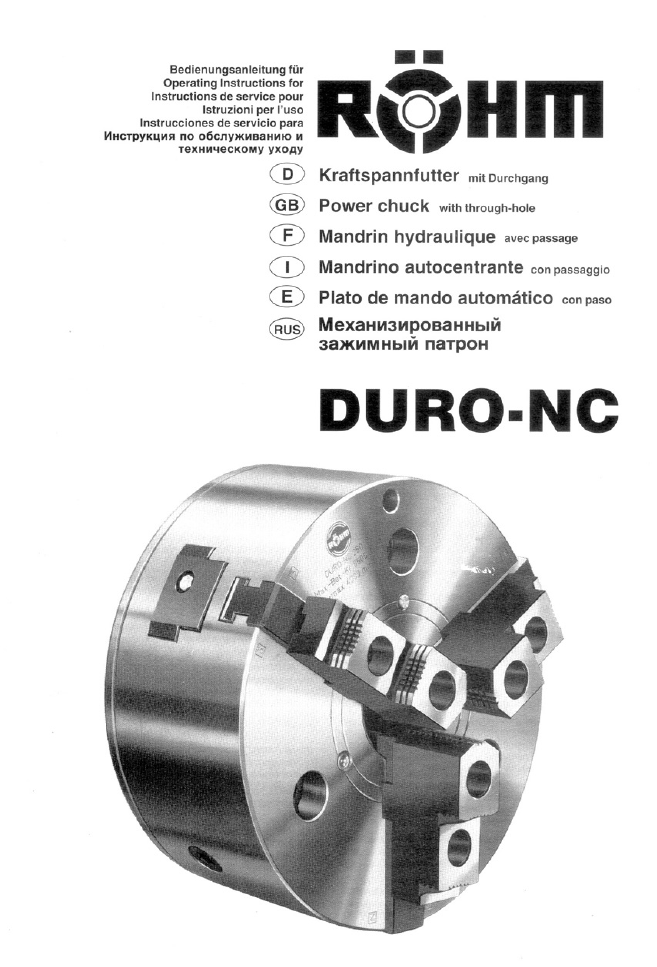 ROHM DURO-NC - Power chucks with quick-acting jaw change system ...