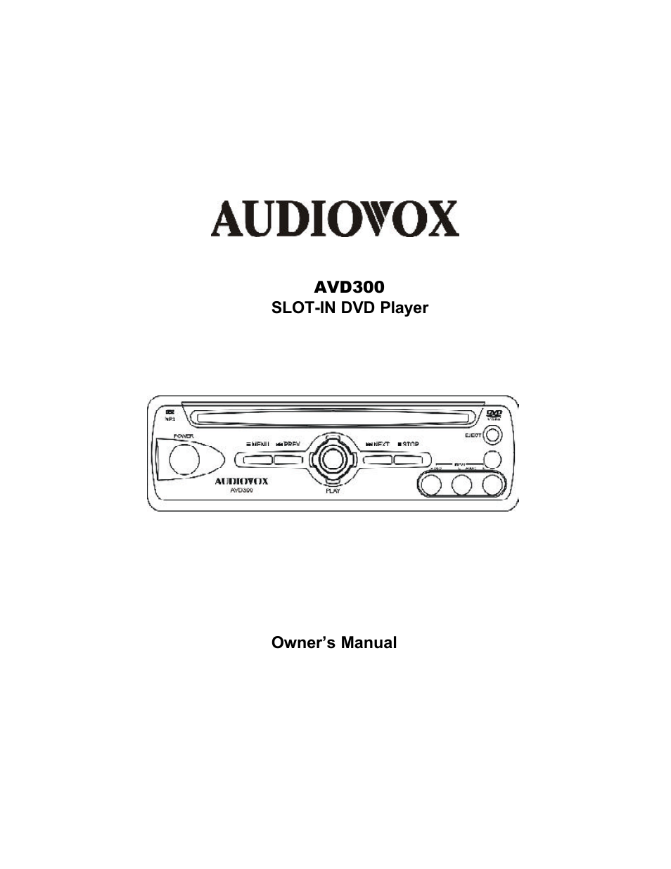 audiovox avd300 user manual 30 pages rh manualsdir com User Guide Template Quick Reference Guide
