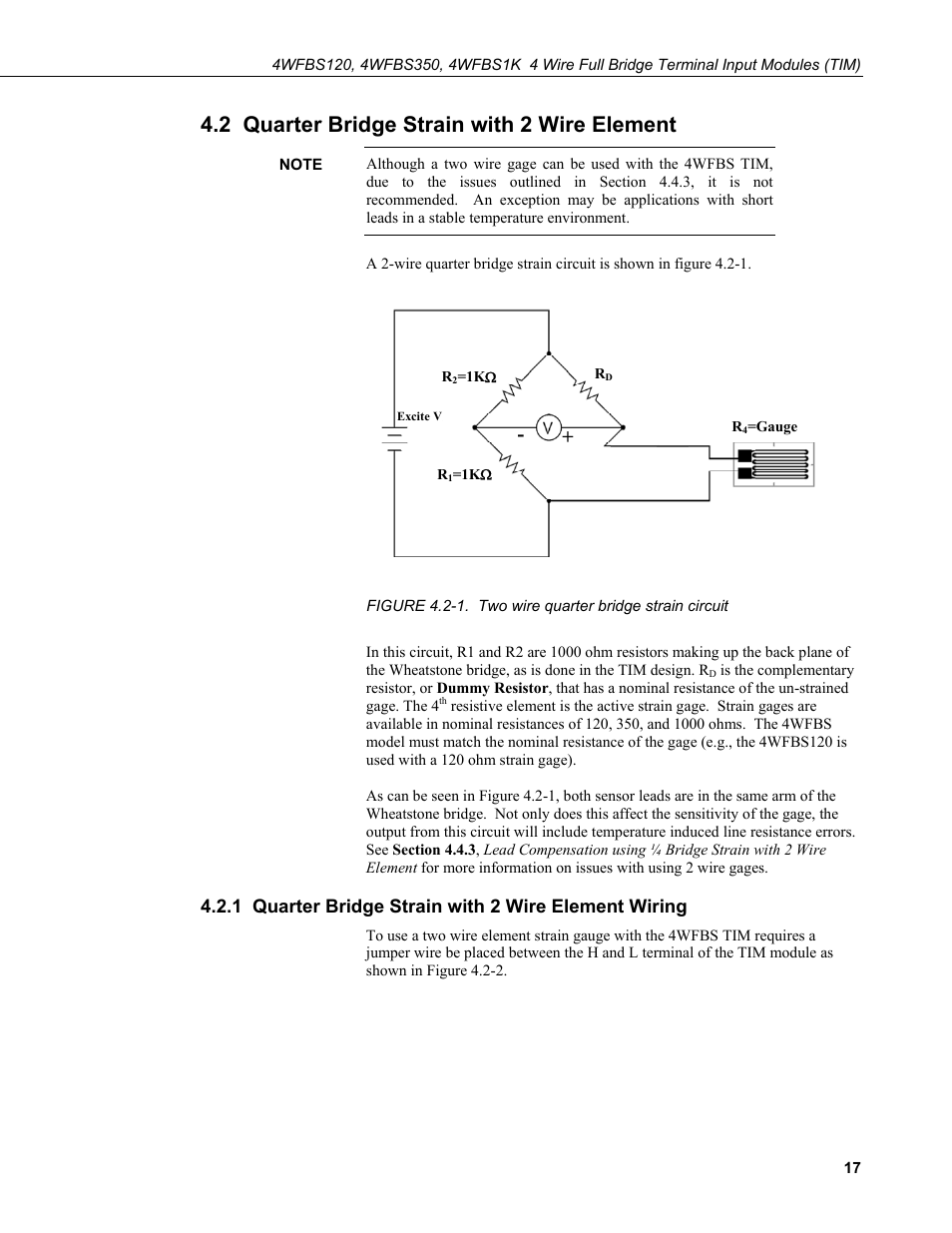 2 Quarter Bridge Strain With Wire Element 1 Figure H Circuit Wiring Campbell Scientific 4wfbs120 4wfbs350 4wfbs1k 4