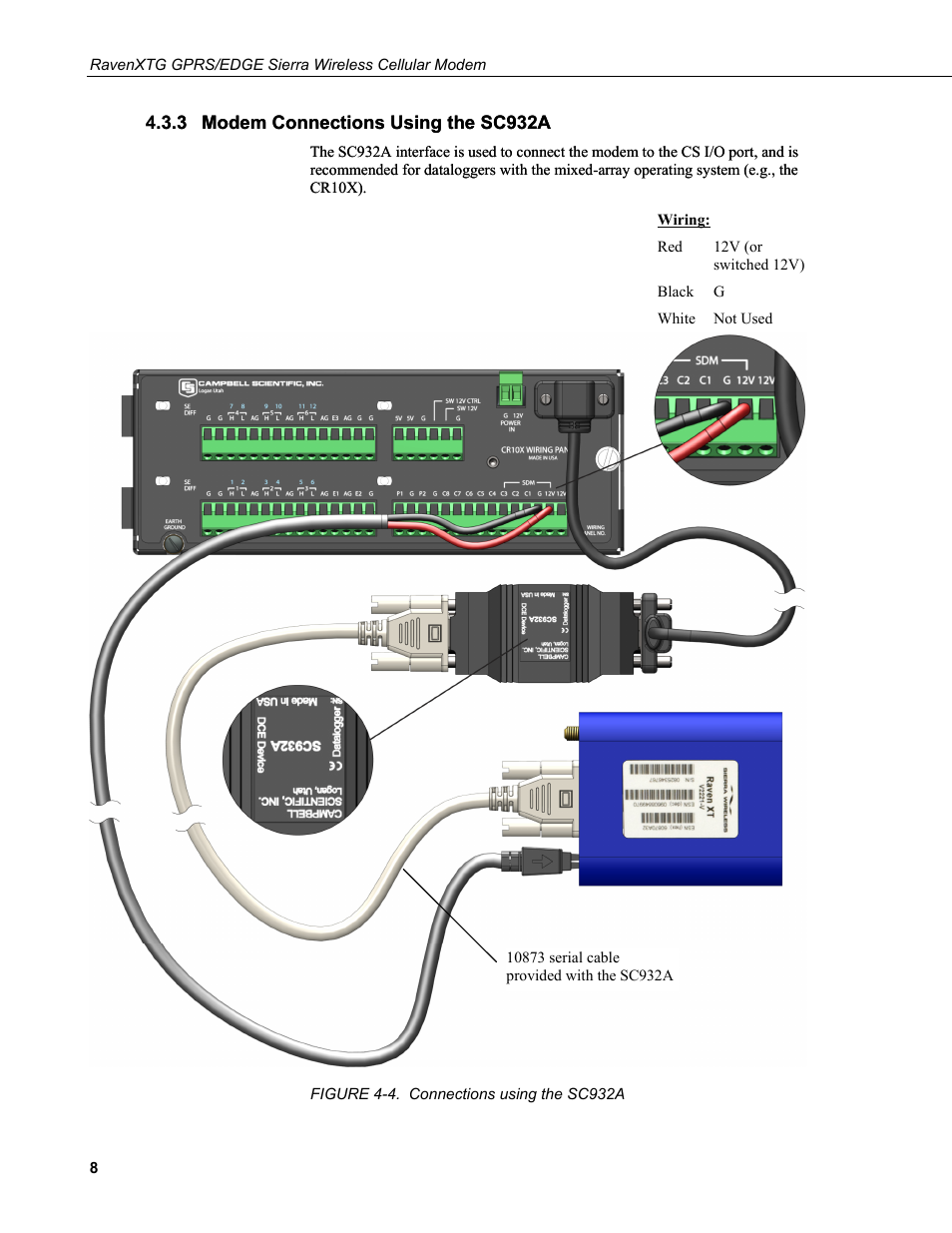3 Modem Connections Using The Sc932a Raven Cable Wiring Diagrams 4