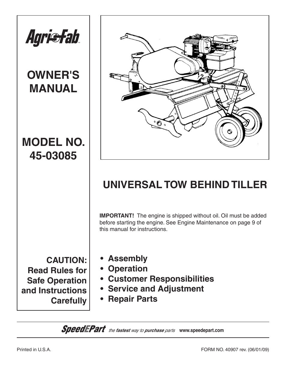 Agri-fab 45-03083 user manual | 20 pages.