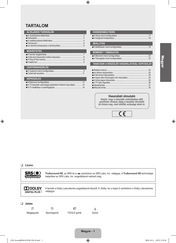 tartalom ma gy ar samsung le32b350f1w user manual page 35 328 rh manualsdir com Dolby Noise Reduction Dolby Laboratories Locations