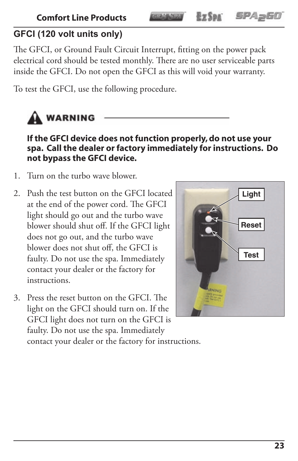 Activeforever Spa2go Stg 1 User Manual Page 23 28 Also For Ground Fault Circuit Interrupt 2 3 4