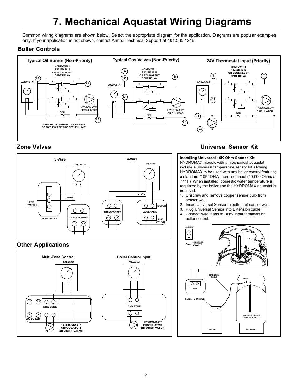 mechanical aquastat wiring diagrams typical oil burner non mechanical aquastat wiring diagrams typical oil burner non priority typical gas valves non priority amtrol hydromax hm 41l user manual page 8 12