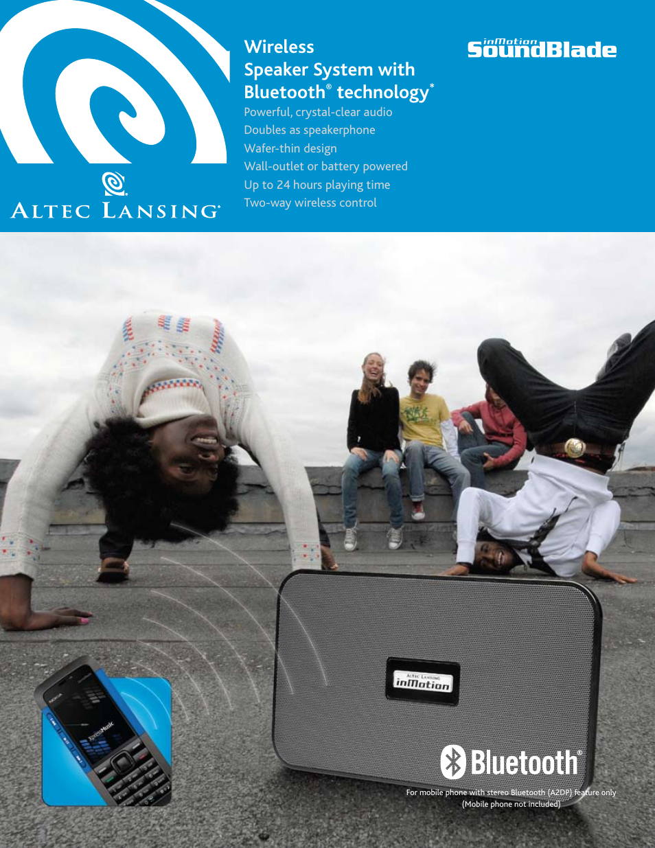 altec lansing inmotion soundblade user manual 2 pages rh manualsdir com Altec Lansing InMotion Speakers Altec Lansing InMotion IM310