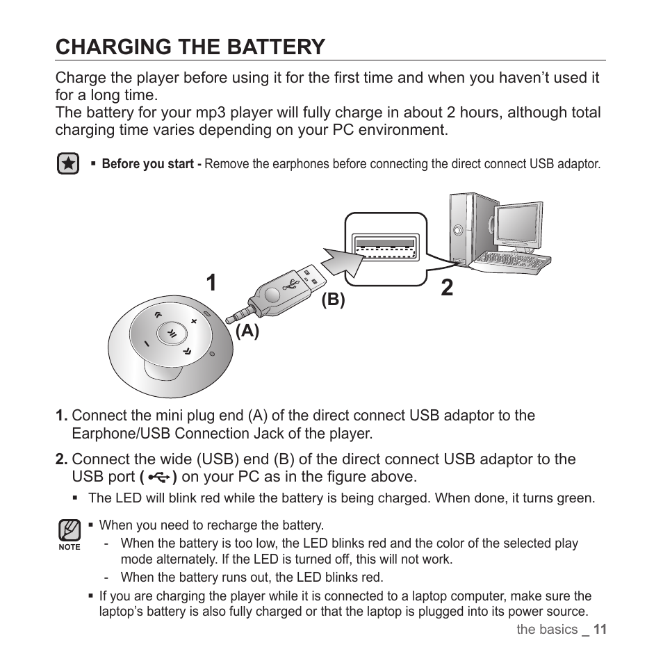 Charging The Battery A B Samsung Yp S2zb Xaa User Manual Nikon D40 Usb Cable Schematic Page 11 31