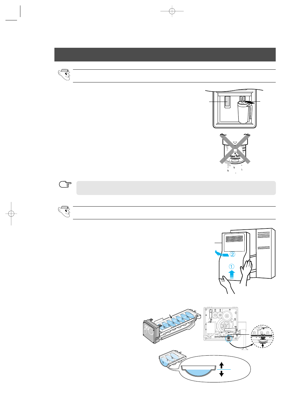installation of the water dispenser line   samsung rs2555sl-xaa user manual    page 28