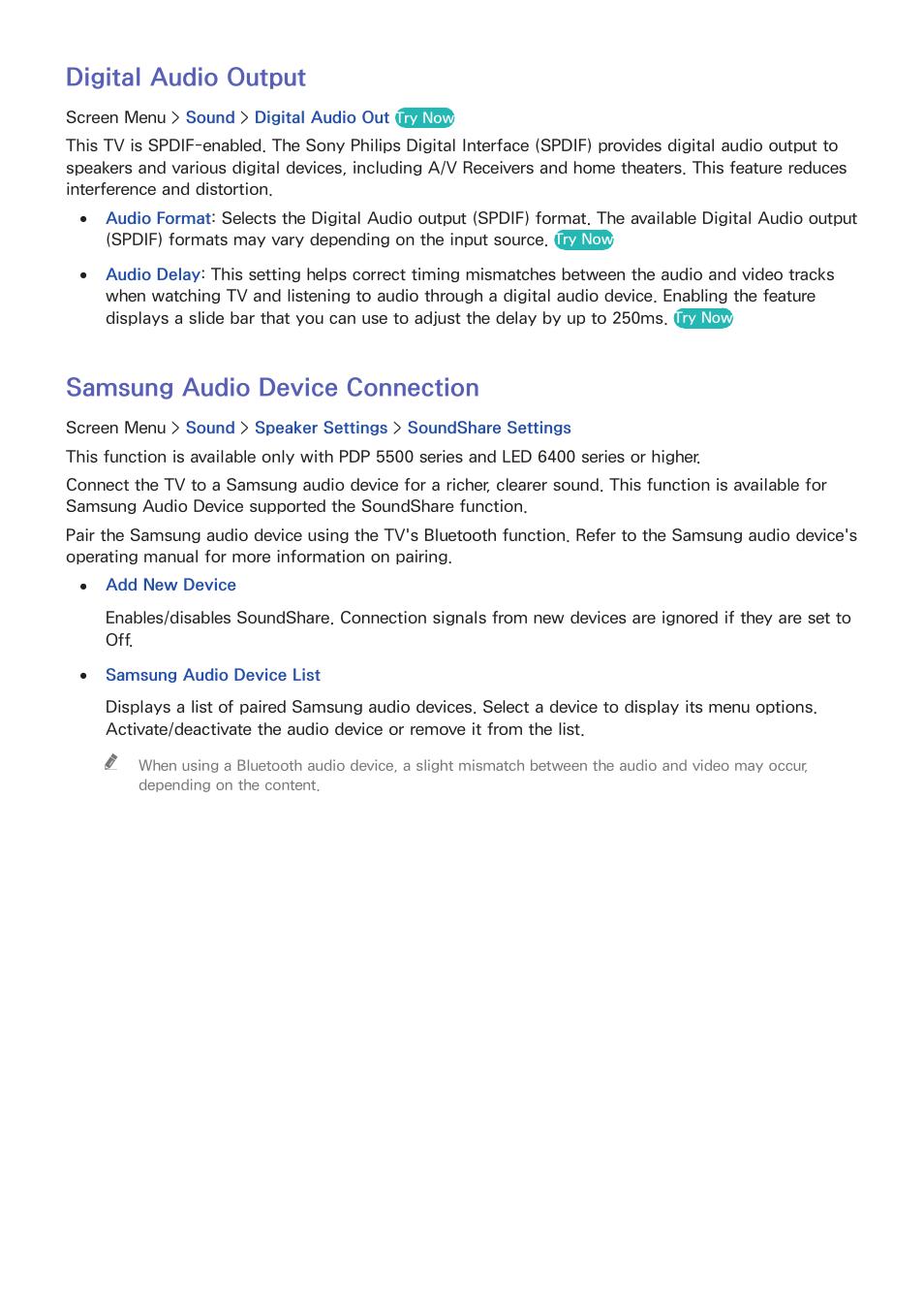 88 digital audio output, 88 samsung audio device connection