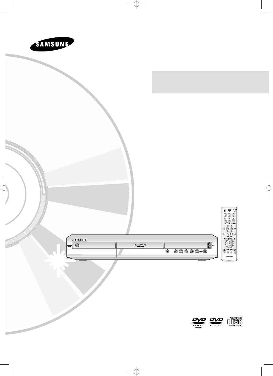Samsung dvd recorder r120 manual.