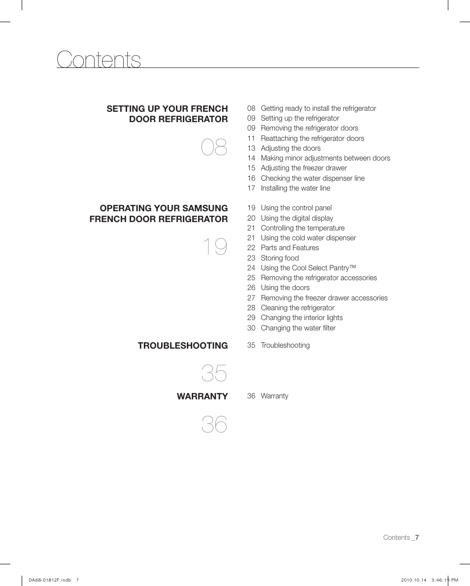 Samsung Rf266aepn Xaa User Manual Page 7 40 Also For