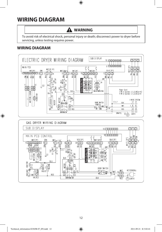 samsung dryer wiring diagram wiring diagram  warning samsung dv448aep xaa user manual page samsung dryer wiring schematic samsung dv448aep xaa user manual