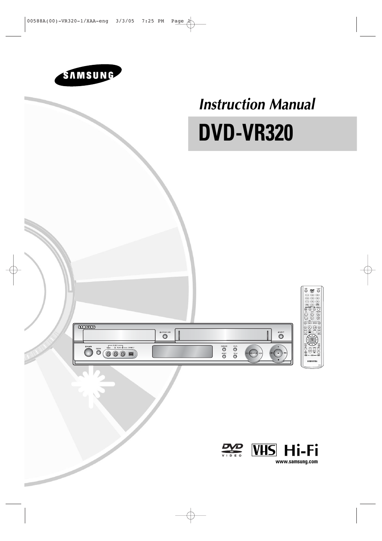 Samsung dvd-vr320 combination dvd recorder + hifi vcr at.