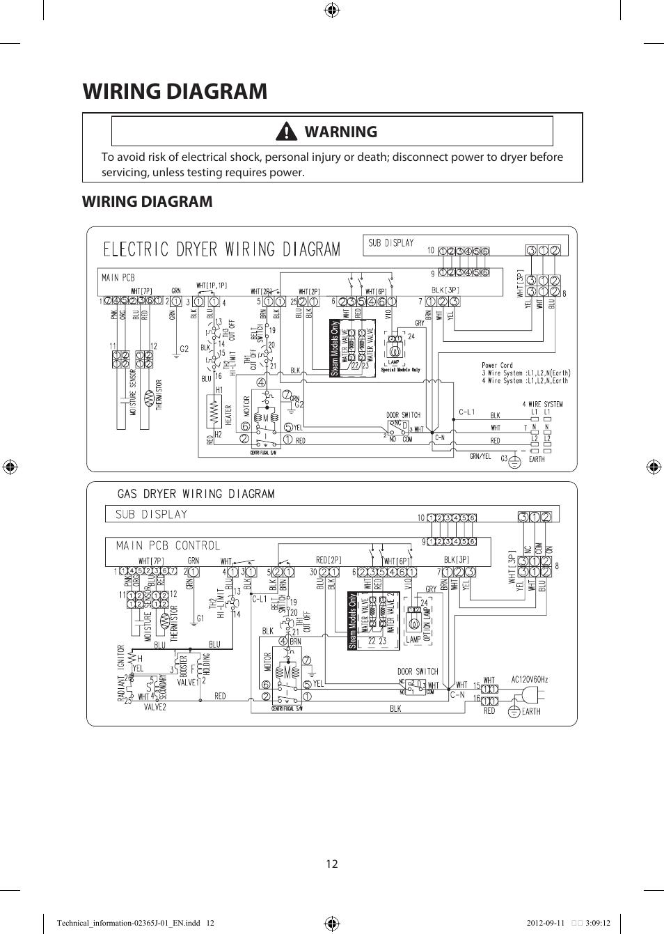 Wiring Diagram  Warning