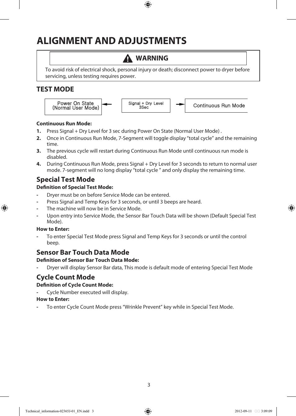 Samsung Dryer Diagnostic Mode
