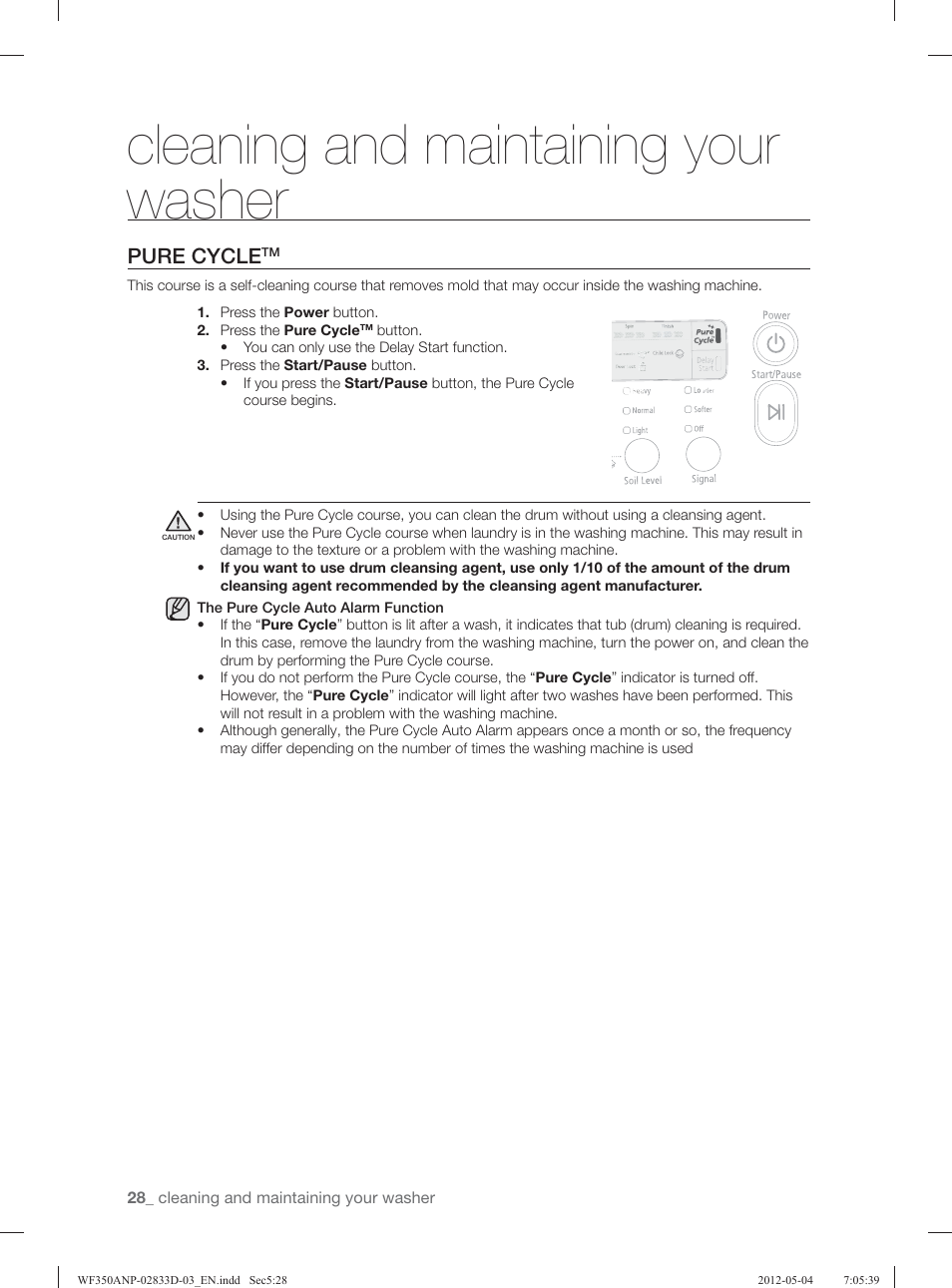 Cleaning And Maintaining Your Washer Pure Cycle Samsung
