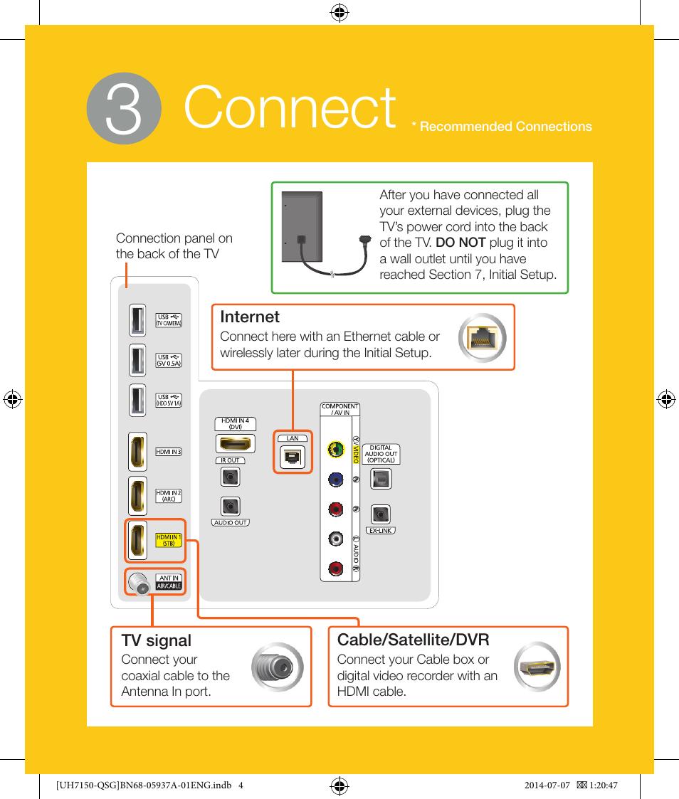 Connect Samsung Un55h7150afxza User Manual Page 4 12