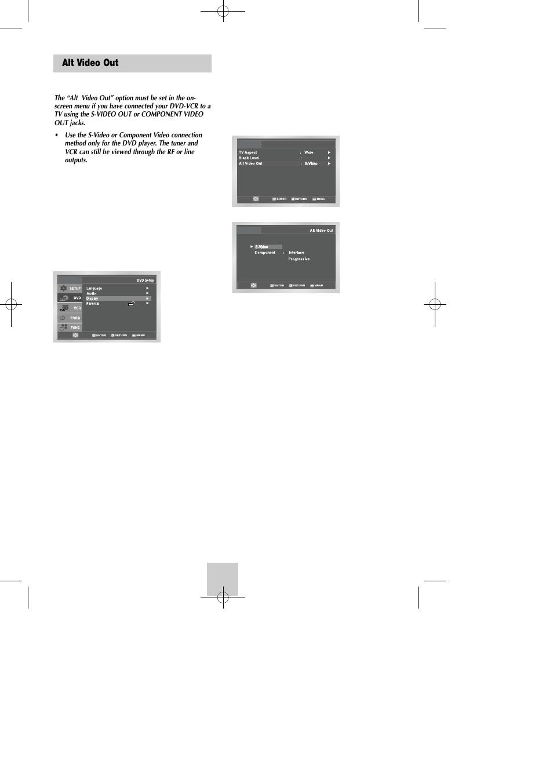 alt video out samsung dvd v4600c xaa user manual page 20 36 rh manualsdir com samsung v4600 manual samsung dvd v4600 manual español