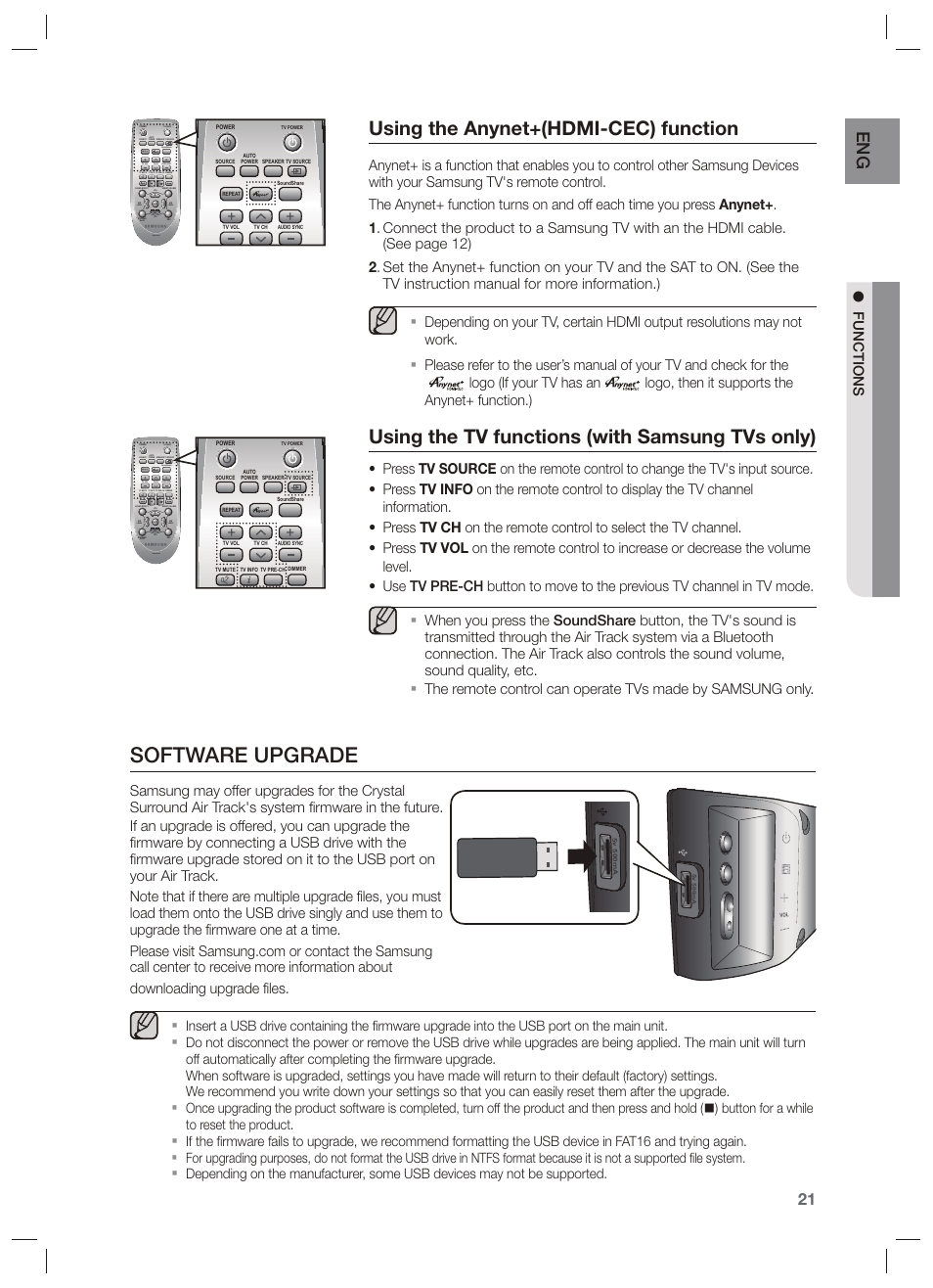 software upgrade using the anynet hdmi cec function using the tv rh manualsdir com instruction manual for samsung tv control box instruction manual for samsung tv