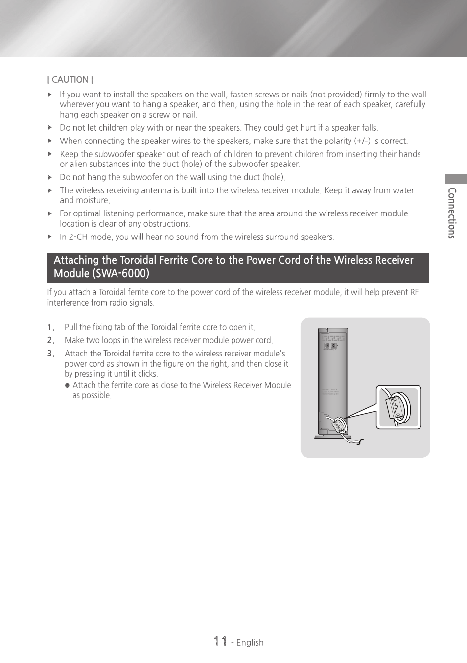 Cord Of The Wireless Receiver Module Swa 6000