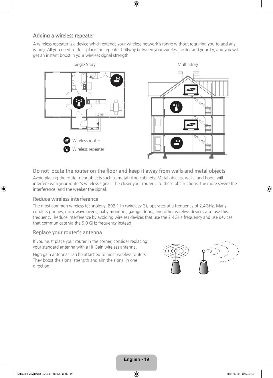 Samsung UN40H5201AFXZA User Manual   Page 19 / 32   Also for:  UN55H6203AFXZA, UN60H6203AFXZA, UN46H5203AFXZA, UN65H6203AFXZA,  UN32H5203AFXZA, UN46H6203AFXZA ...
