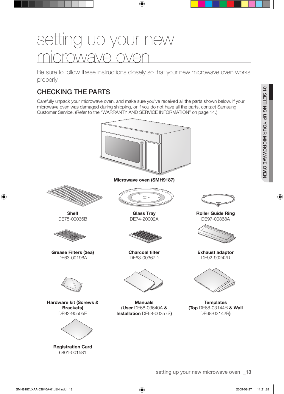 Setting Up Your New Microwave Oven