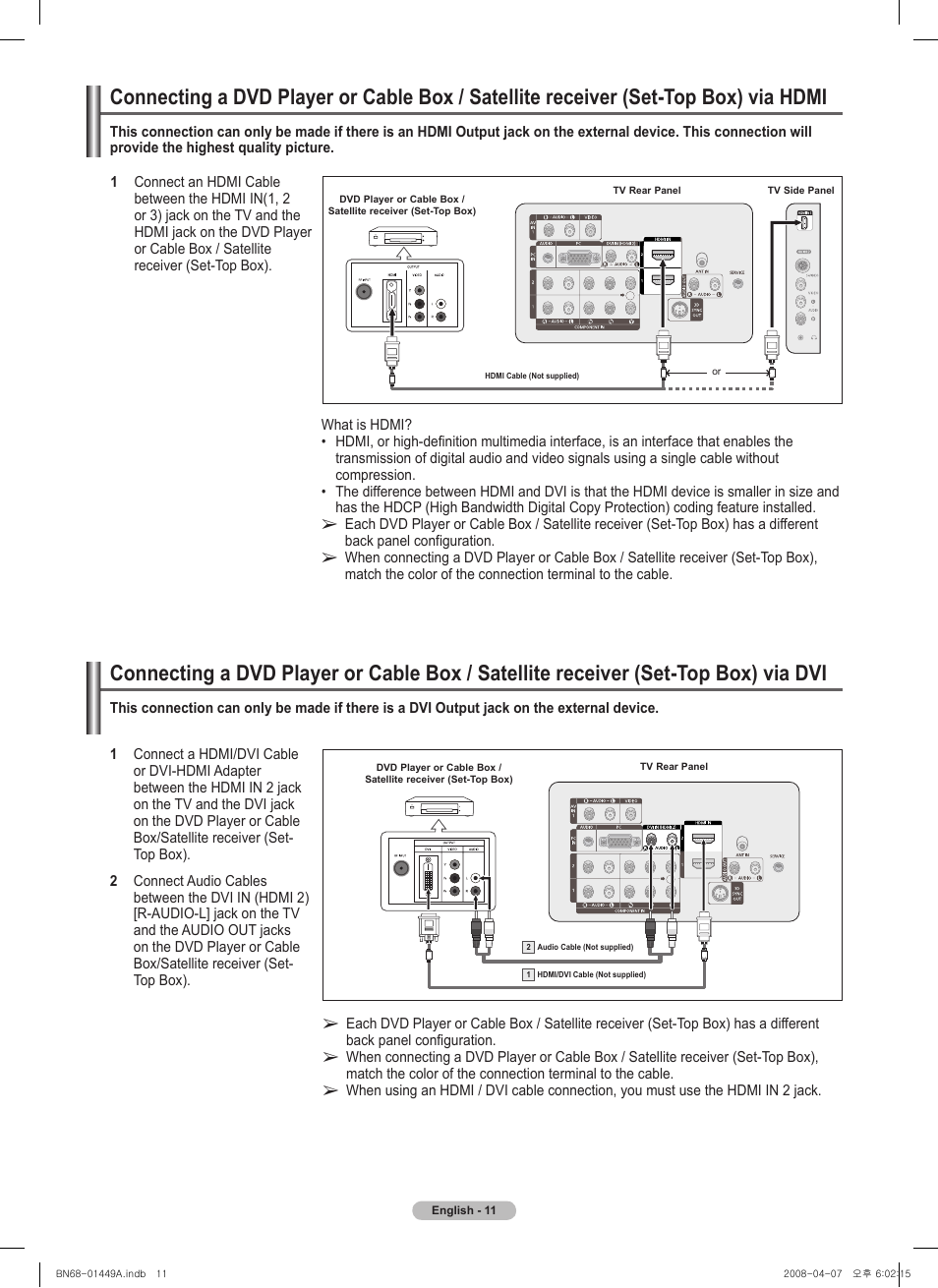 Samsung PL50A450P1XZP User Manual | Page 11 / 123 | Also for ...