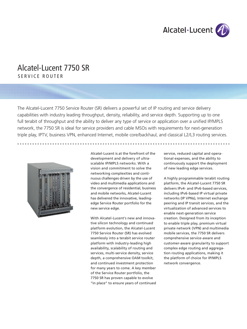 Alcatel Lucent 7750