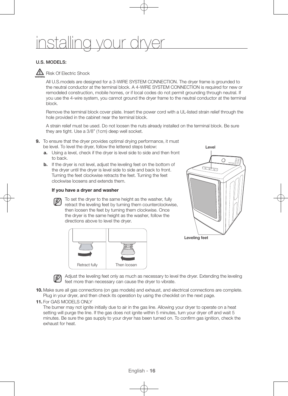 Installing Your Dryer Samsung Dv48h7400gw A2 User Manual Page 16 4 Wire Connection Diagram 120