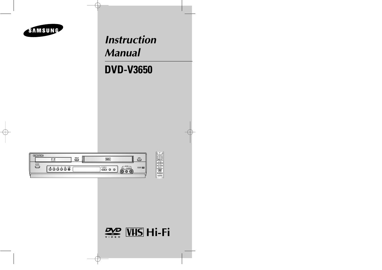samsung dvdv3650v xax user manual 35 pages also for dvd v3650 rh manualsdir com Samsung TV Component Cable samsung dvd-v3650 manual