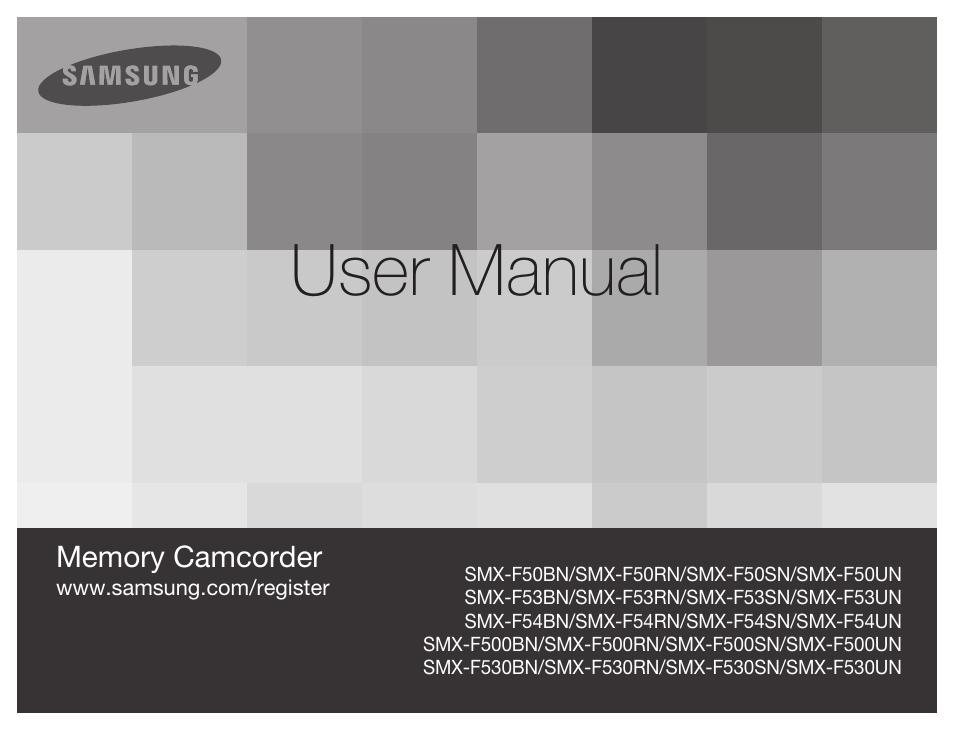 samsung smx f50sn xaa user manual 127 pages also for smx f50bn rh manualsdir com Samsung Instruction Manual Samsung TV Repair Manual