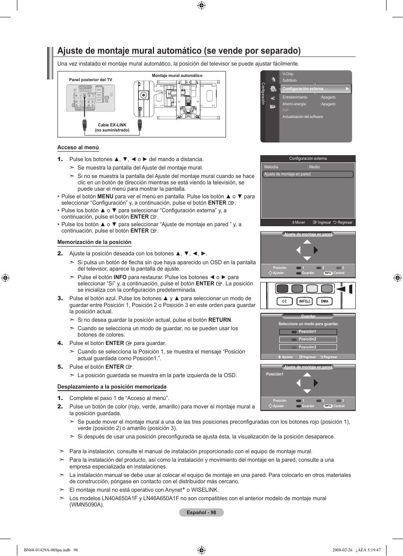 Samsung LN46A650A1FXZA User Manual   Page 214 / 222