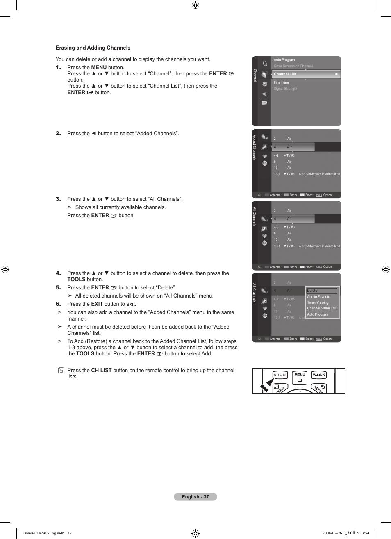 Samsung LN46A650A1FXZA User Manual   Page 39 / 222